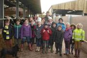 Fun on the farm for visiting Landewednack pupils