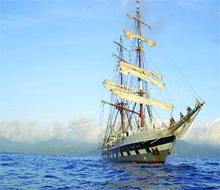 Falmouth Packet: The tall ship Prince William, which is based on the 18th century pirate ships, sailed to Barbados