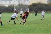 Matt Mossop tries to tackle Mabe's Mary Walsh