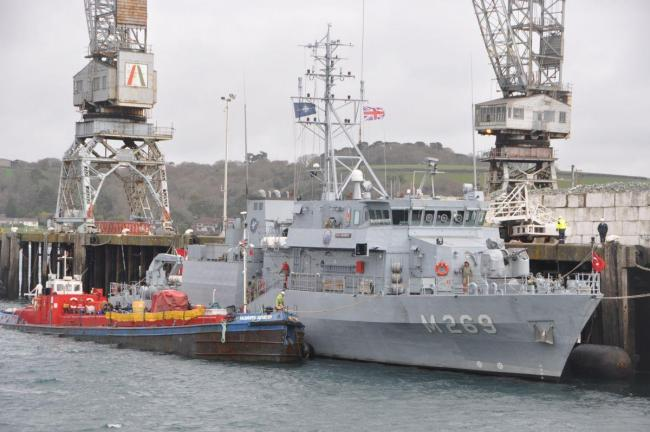NATO warships arrive in Falmouth. PICTURES David Barnicoat