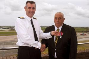 Culdrose driver receives Imperial Service Medal for exemplary service