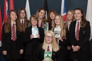 Camborne students quiz authors
