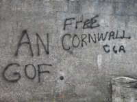 Some of the graffiti left in Falmouth
