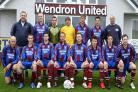 Wendron United's Carlsberg South West Peninsula League line-up 2007-08 (back row, left to right): Bob Claydon, Simon Carter, Mark James, Bryan Scoffin, Andrew Munro, Justin Searle, Steve Webber. Front: Steve Hodson, Peter Maclean, Sean Johnston, Gary Pasc