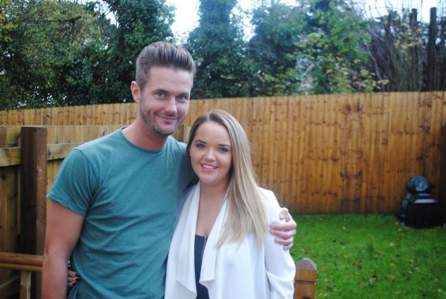 Dean Goulding,who has organised the charity match, with fiancee Jess
