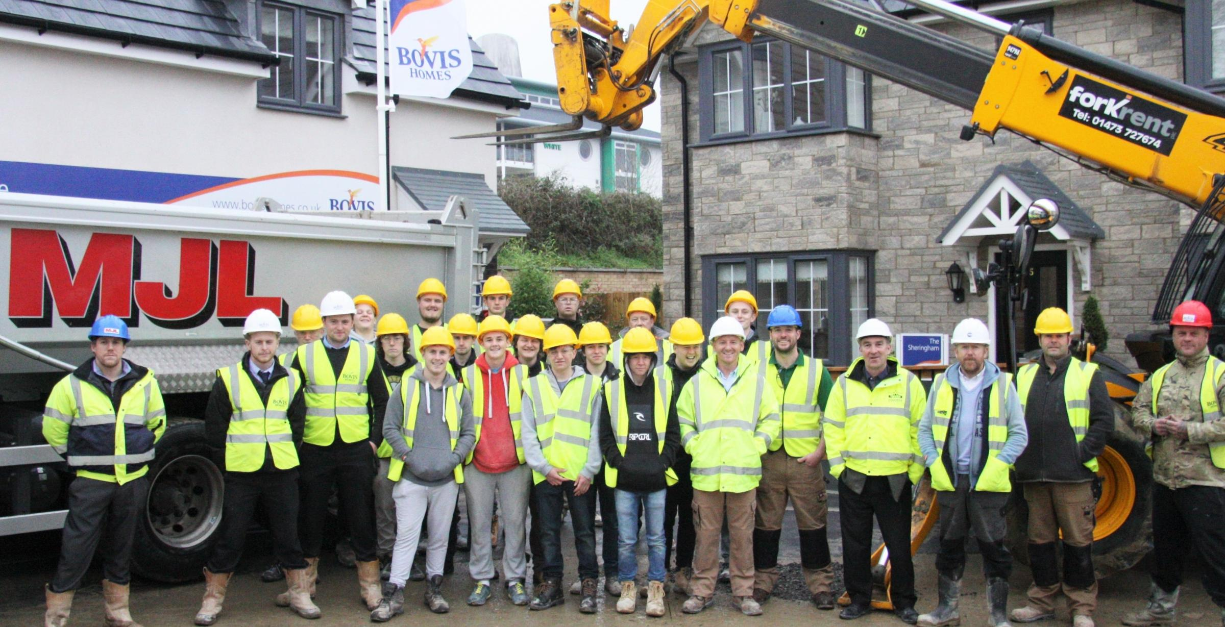 MJL Bovis Homes and Truro and Penwith College celebrate their success in working together