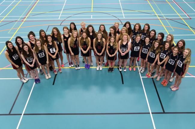 Truro School's successful under-18, under=16 and under-14 netball teams. (53395138)