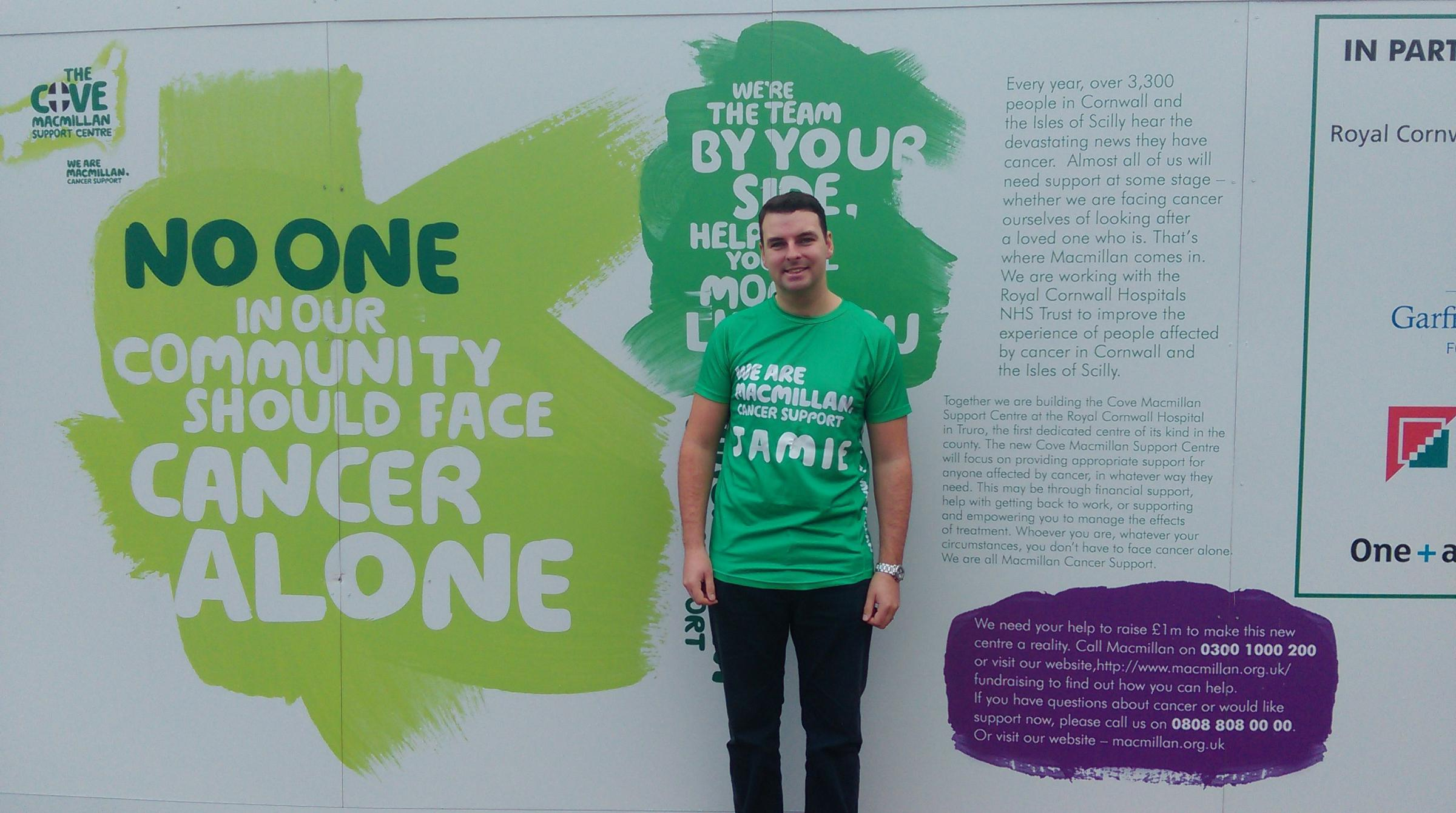 Jamie Richards is running the London Marathon for the Macmillan Cove Appeal (55275020)