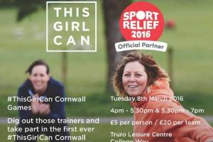 Women urged to take four-strong team to This Girl Can Cornwall Games