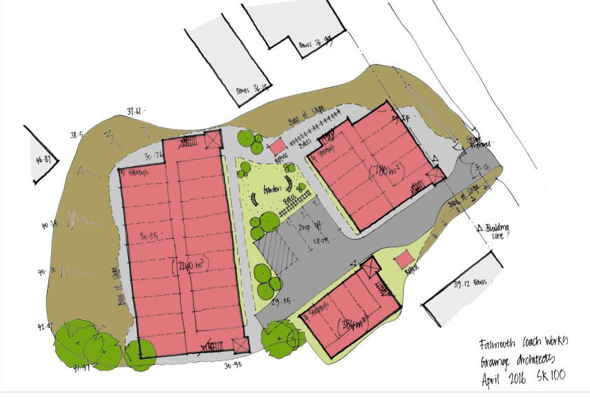 Initial plans for student accommodation at Falmouth Coachworks