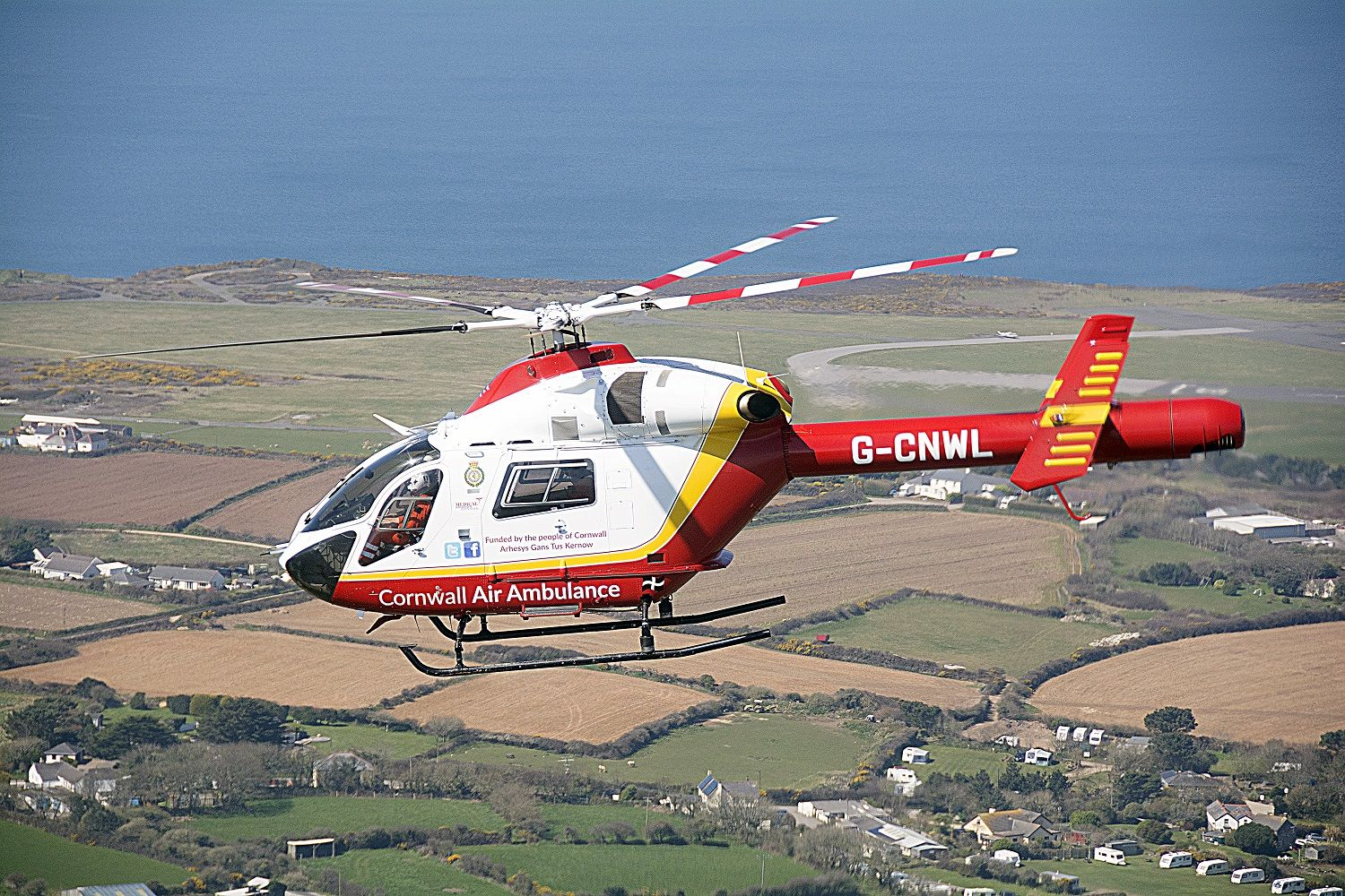 Rescue operation after man falls 20ft over cliffs in West Cornwall
