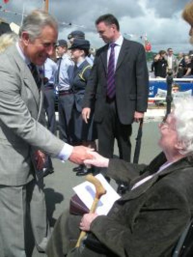 Prince Charles meets the crowds.