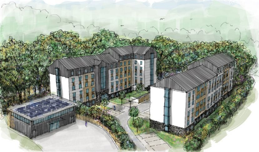 The pre-application plans for students accommodation at Parkengue