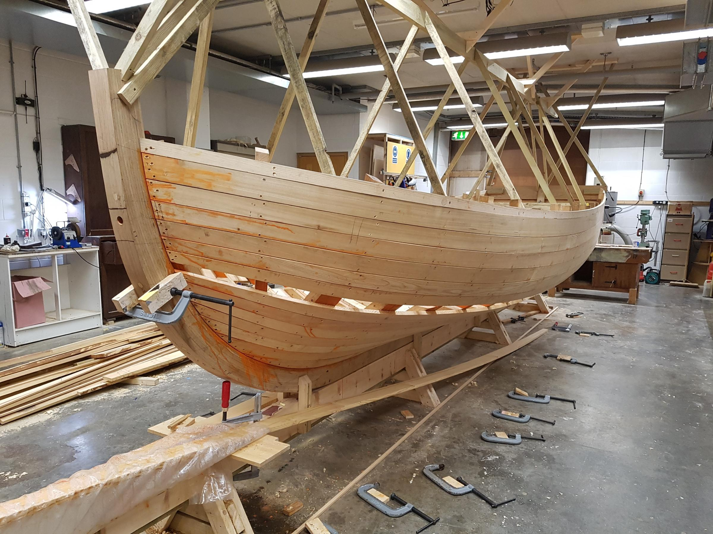 Work well underway at the National Musuem Cornwall building the replica boat that Bligh sailed across the Pacific