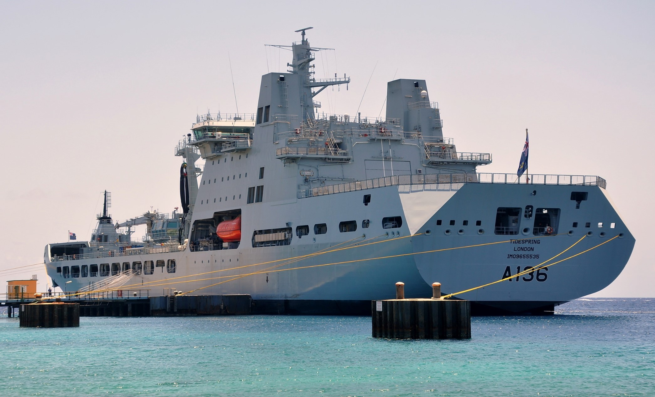 RFA Tidespring has sailed to undergo her final evaluation trials before joining the Fleet