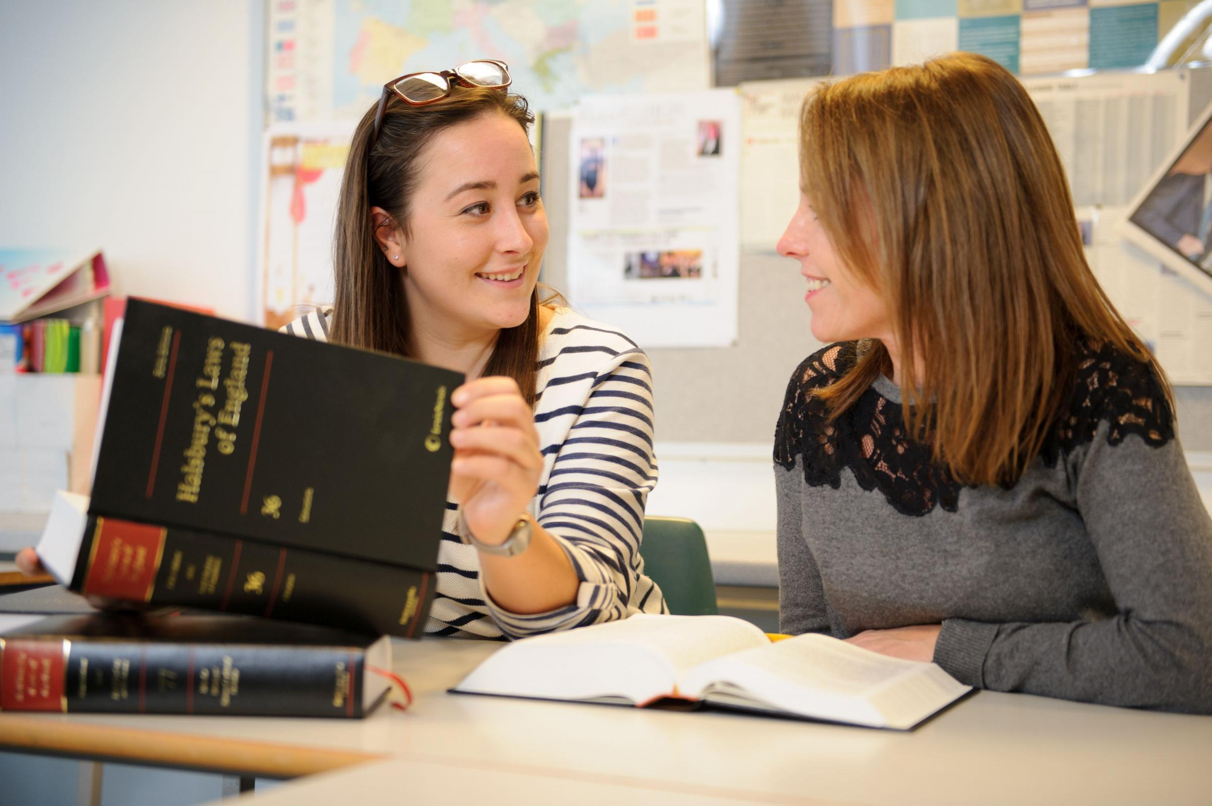 Business and law students who now have the opportunity to continue their full, three year degree courses at Truro and Penwith College.