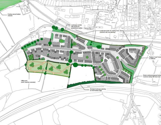 The plans cover a swathe of fields between the A39 and the Maritime Line