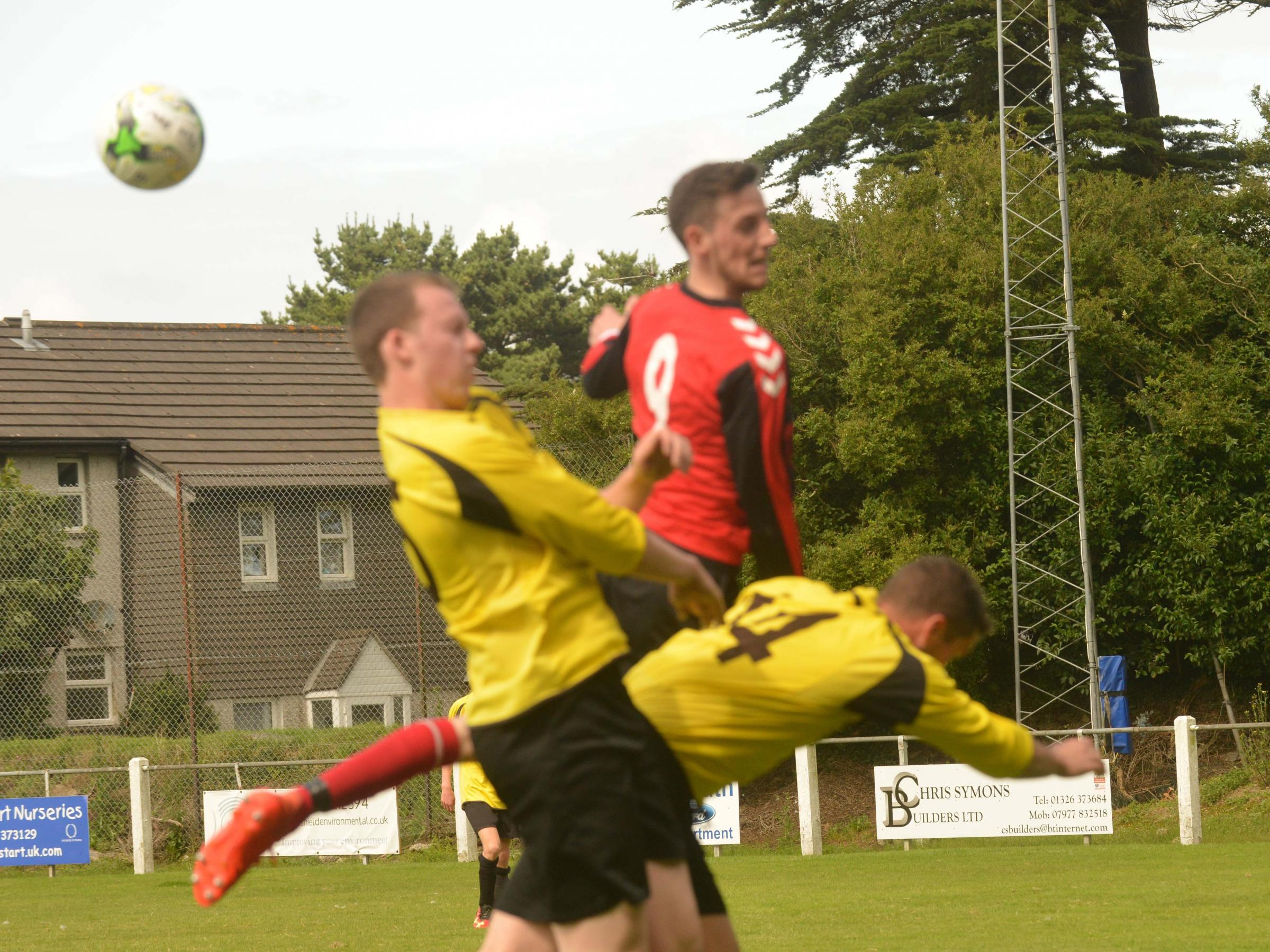 Action from Penryn Reserves against St Keverne in the Trelawny League on Saturday