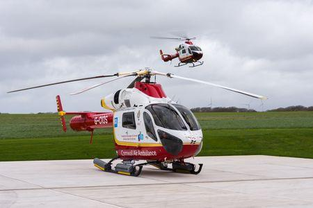 The air ambulance has landed on the A30 following a serious crash near Hayle. (Stock photo)