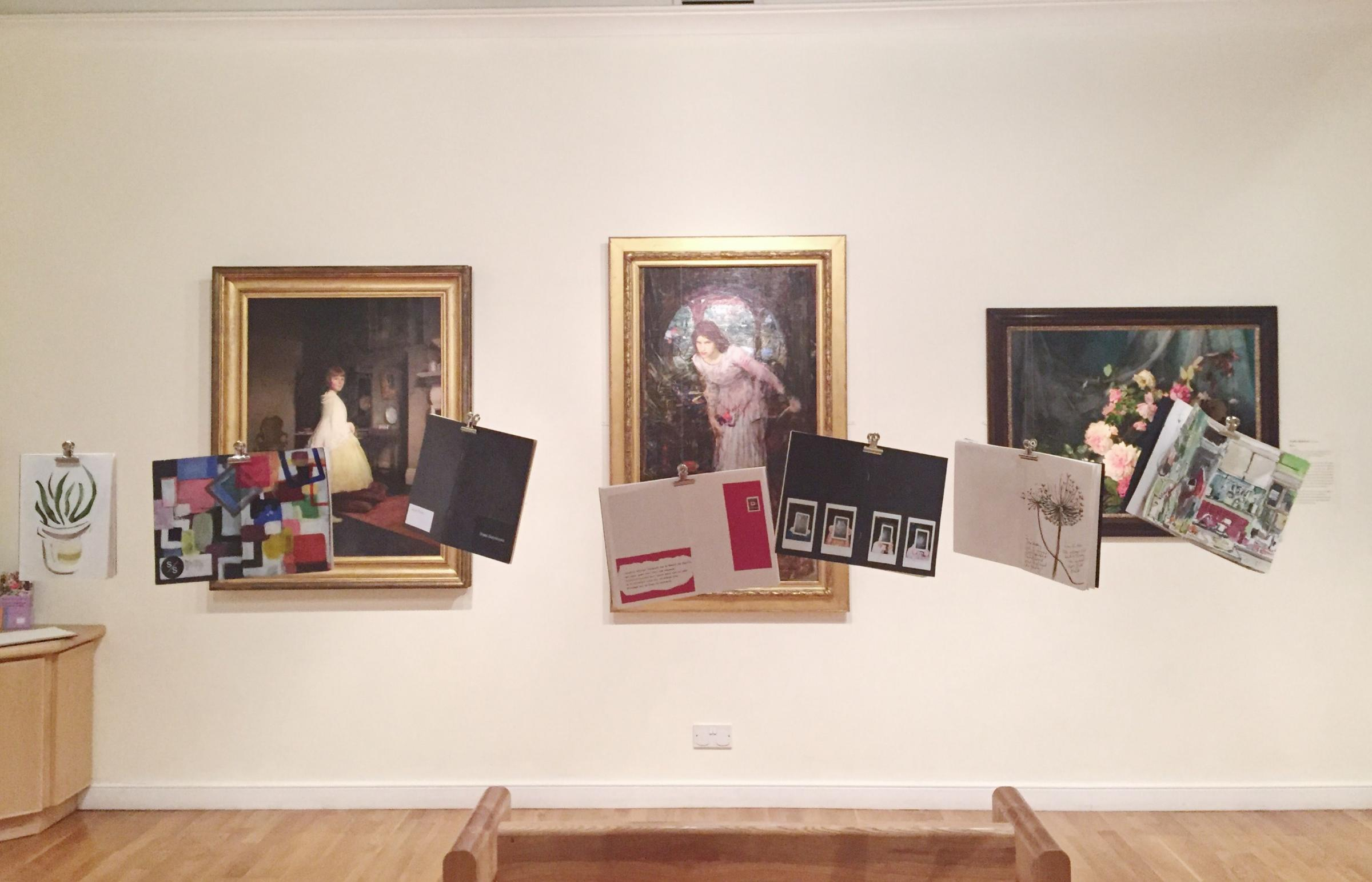 Shallal Sketchbooks exhibition at Falmouth Art Gallery