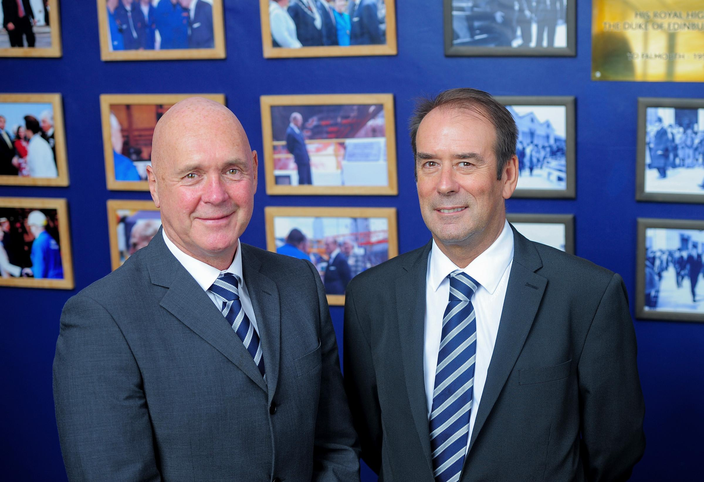 Gerald Pitts A&P Group Defence Division MD and Steve Jones, MD Operations and site director A&P Falmouth