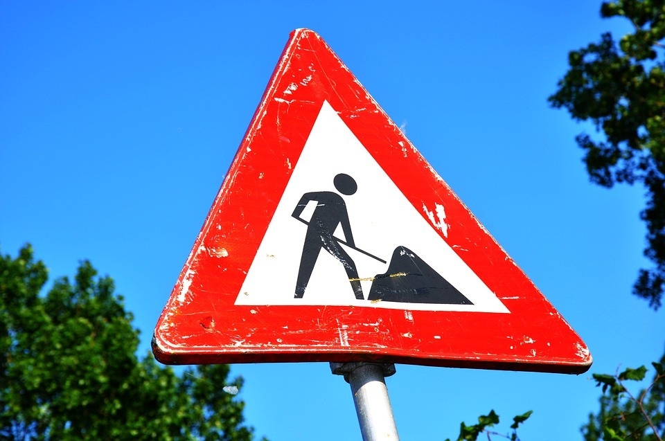 The roadworks began on April 24
