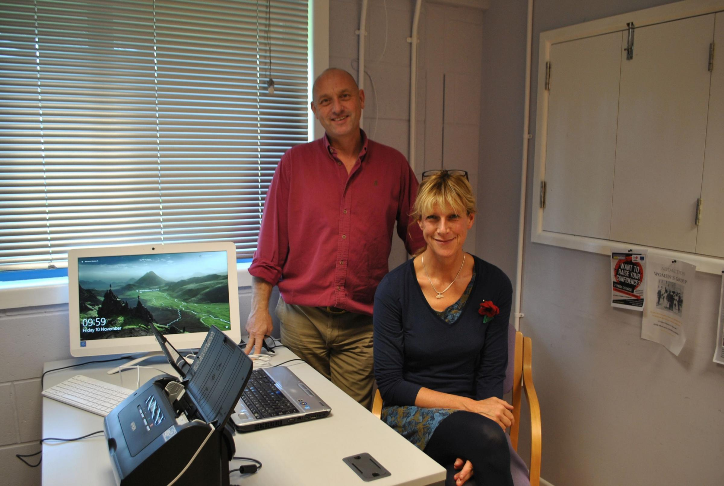 Dracaena Centre manager Richard May with project coordinator Jo Duncan