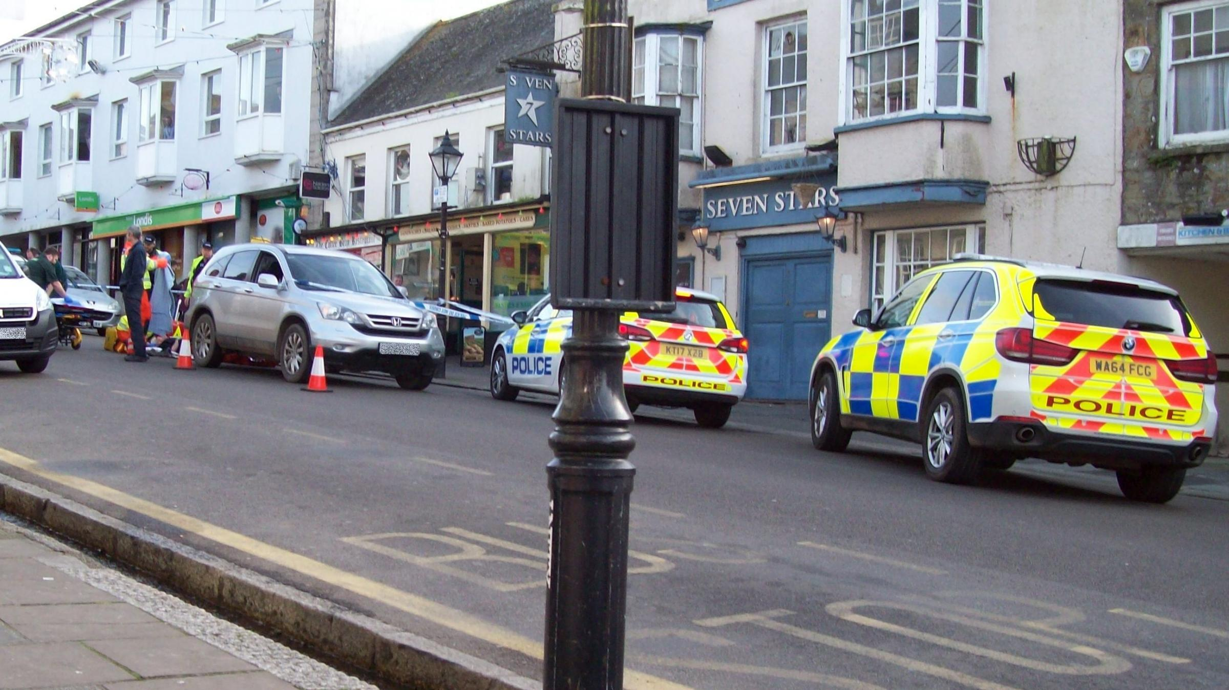 Emergency services in Helston this lunchtime
