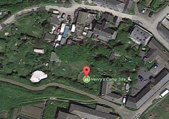 Henry's Camp Site at The Lizard is usually the venue of The Little Big Gig. Photo by Google Maps/Street View