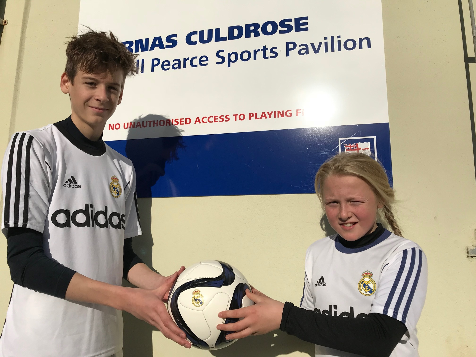 Heading for the Bernabeu: Aiden Jolliffe and Rosie Shipp