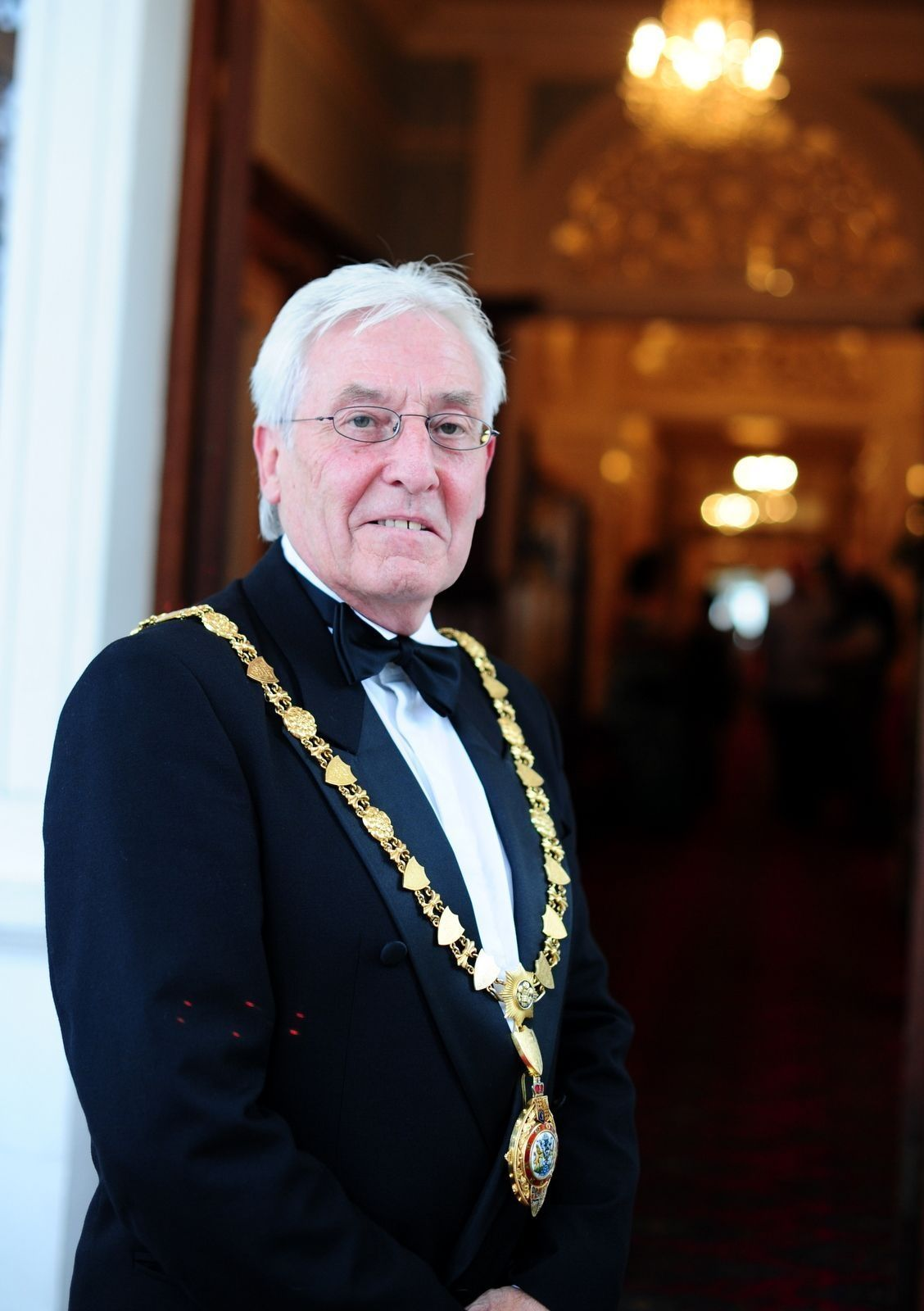 Geoffrey Evans (pictured during one of his terms as mayor) has been made an MBE in the New Year's Honours