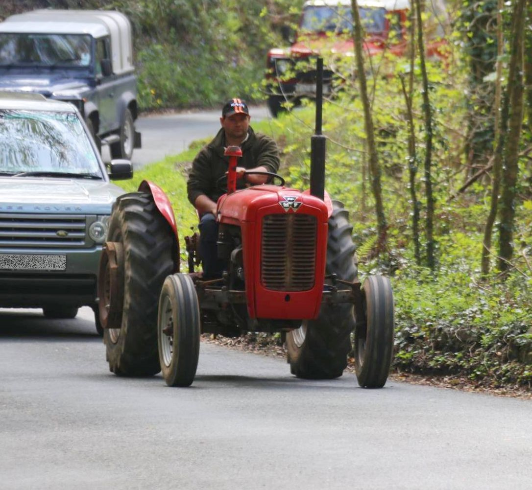 Colin Hosking, pictured at a different tractor rally, died on New Year's Day
