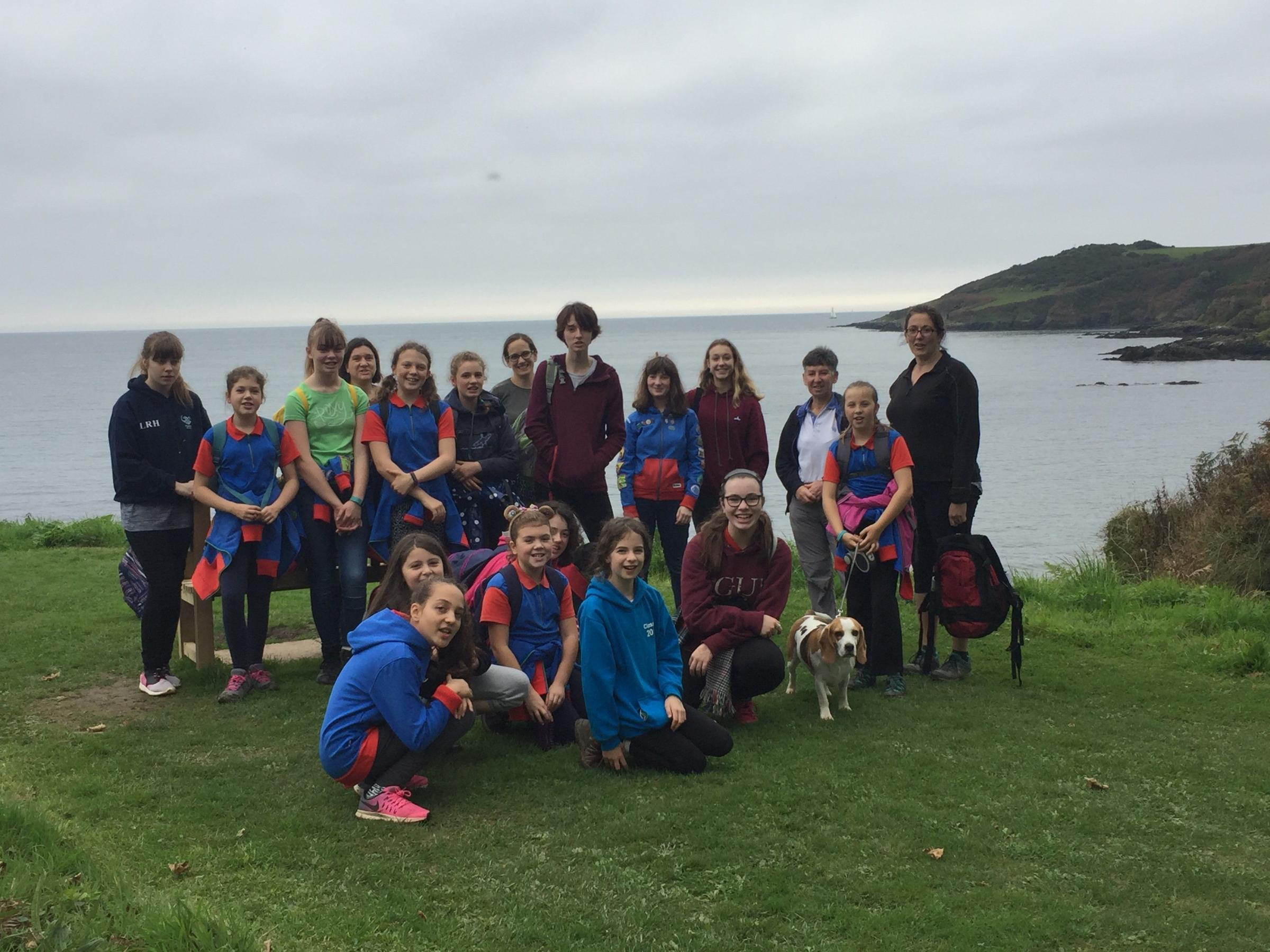The Guides raised £1,500 with their walk