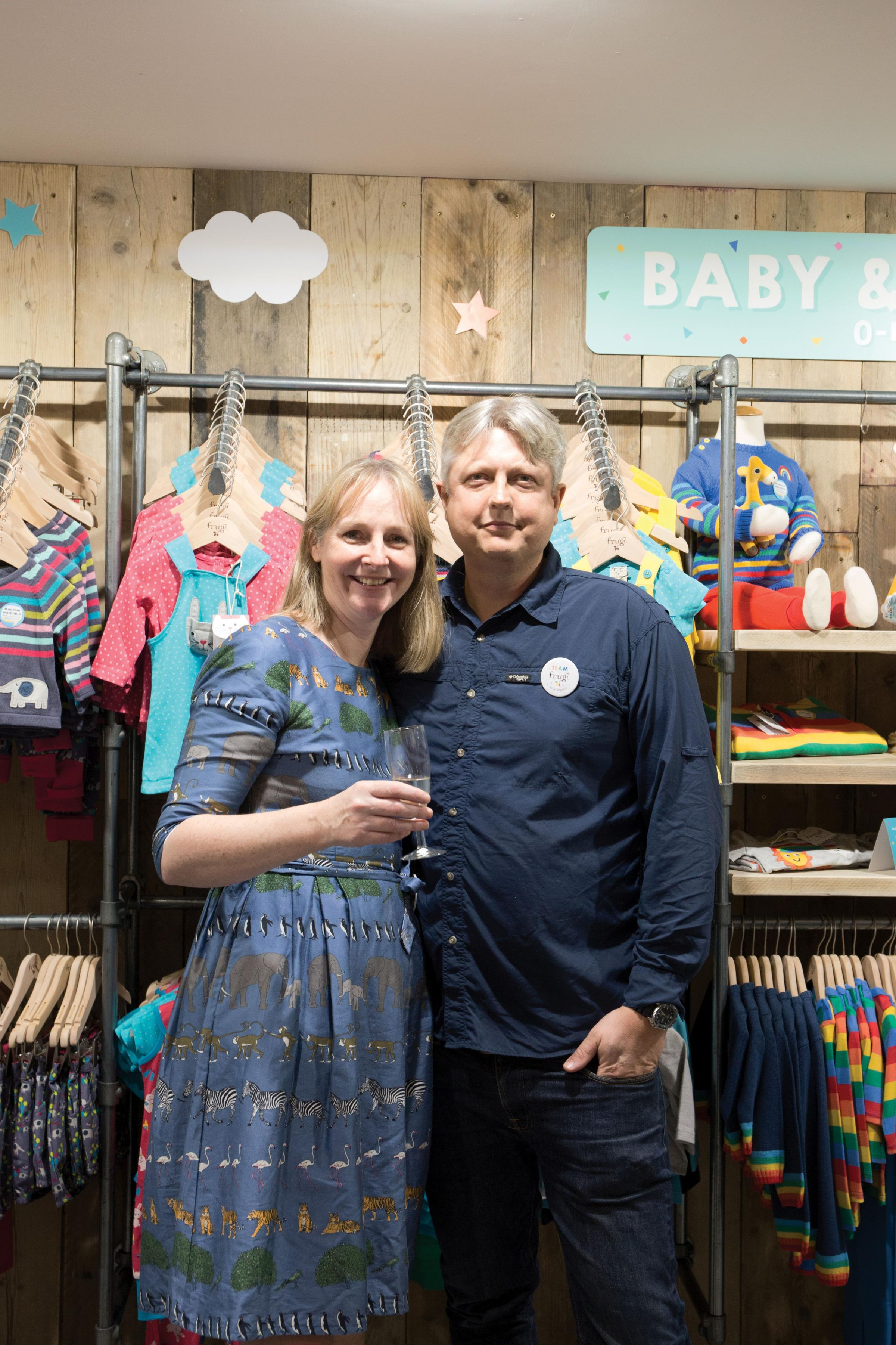Lucy and Kurt Jewson in the new flagship store