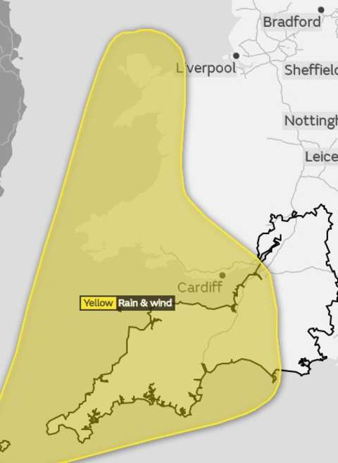 Met Office issues another severe weather warning for Cornwall with torrential rain and gales forecast