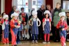 Members of Mawnan Rainbows battle it out