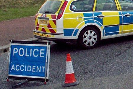 Road closed after serious three car collision leave three injured