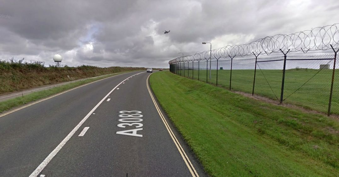 The crash took place on this stretch of the Culdrose road. Photo: Google Maps
