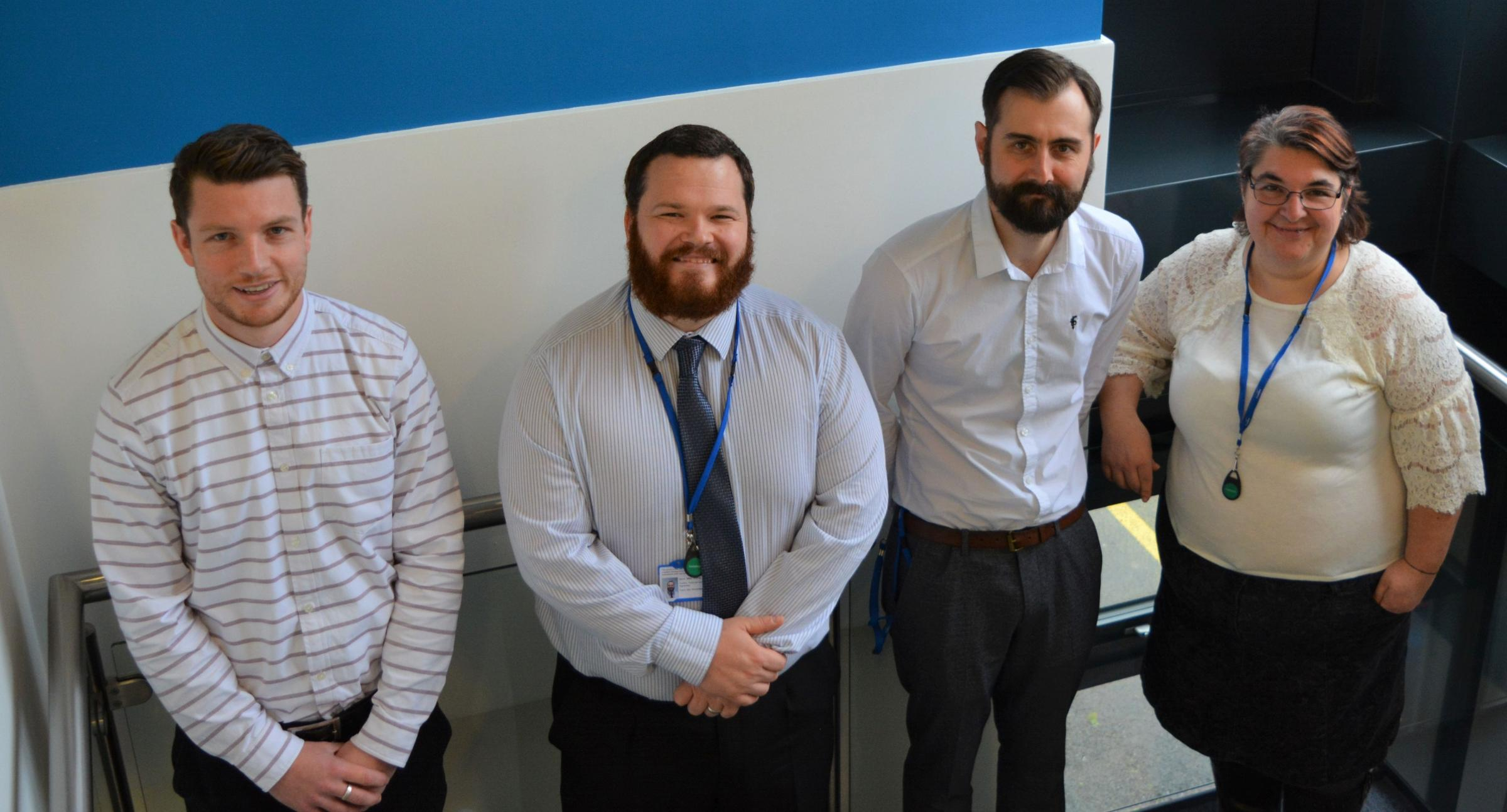 The four newest Coastline apprentices. From left to right: Fraser Short, Michael Thomas, Matthew Nellyer and Gayle Rice.