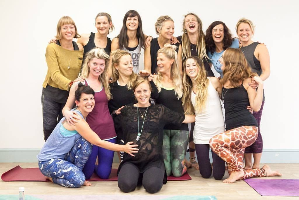 The ladies of the Falmouth Yoga Space raised over £600 for charity
