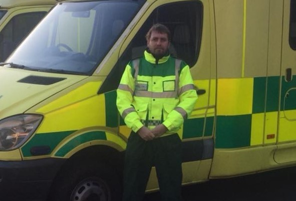 A man from Truro who suffers from Crohn's disease is raising money to help pay for his training to become an ambulance driver