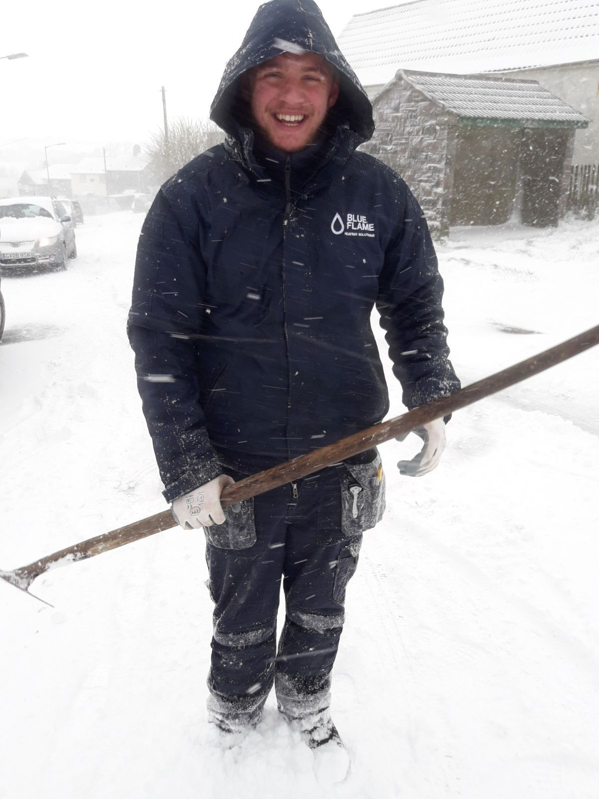 Blue Flame engineer, Eron Thornhill, battles the Beast from the East to support the heating company's client.
