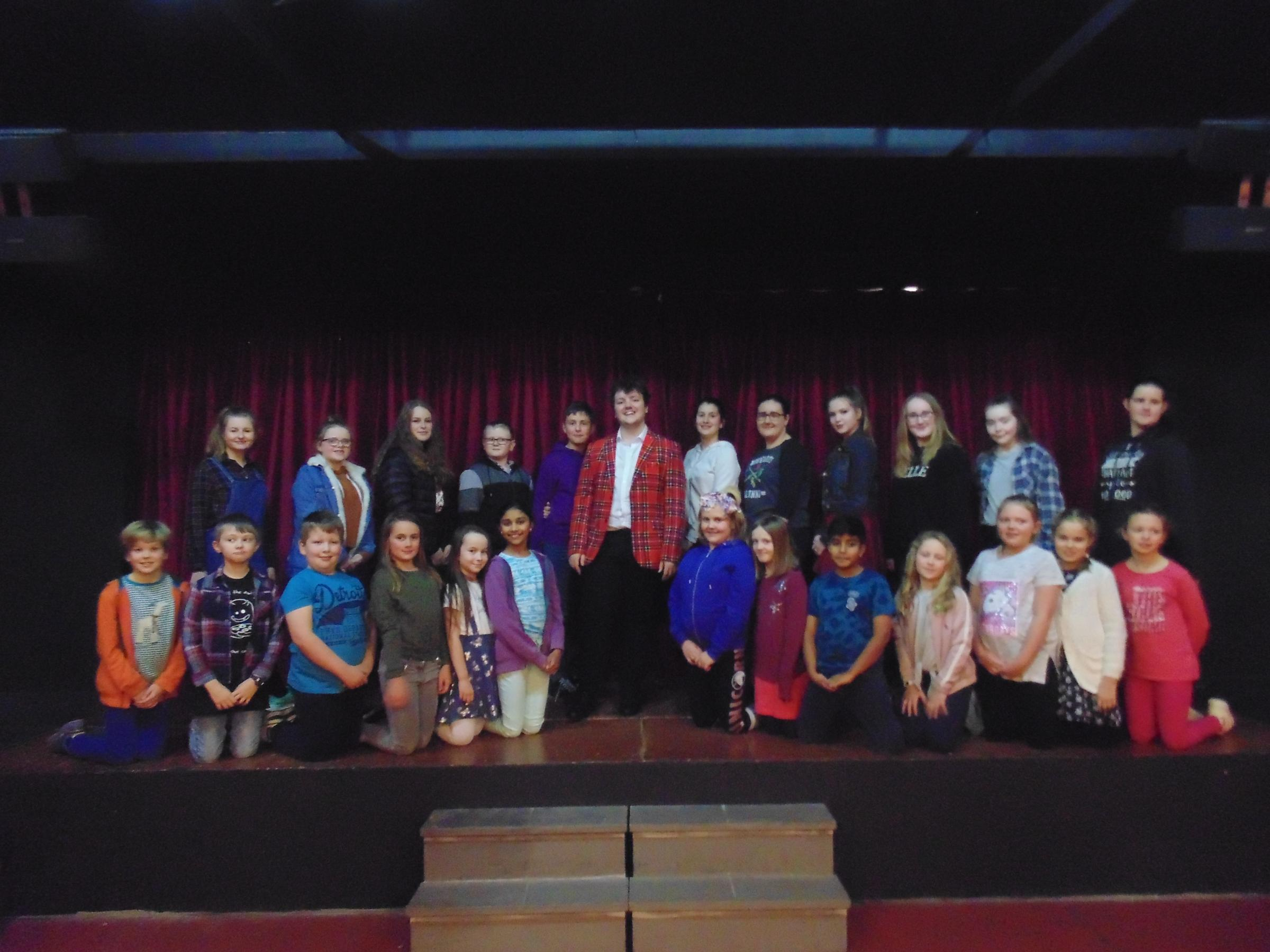 The local talent visited the Truro Amateur Operatic and Dramatic Society Youth Theatre to sign autographs and chat with budding young performers.