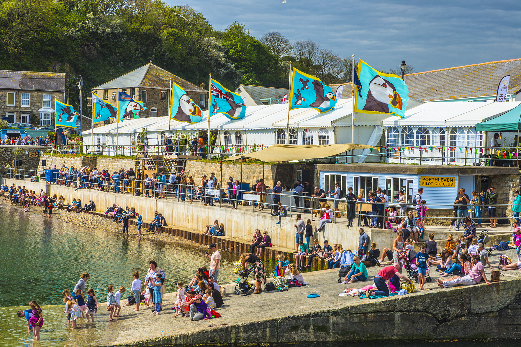 Porthleven Food Festival always attracts thousands of visitors. Photo: Arc Live