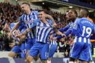 Pascal Gross scored the goal which ensured Brighton's Premier League future (Gareth Fuller/PA)
