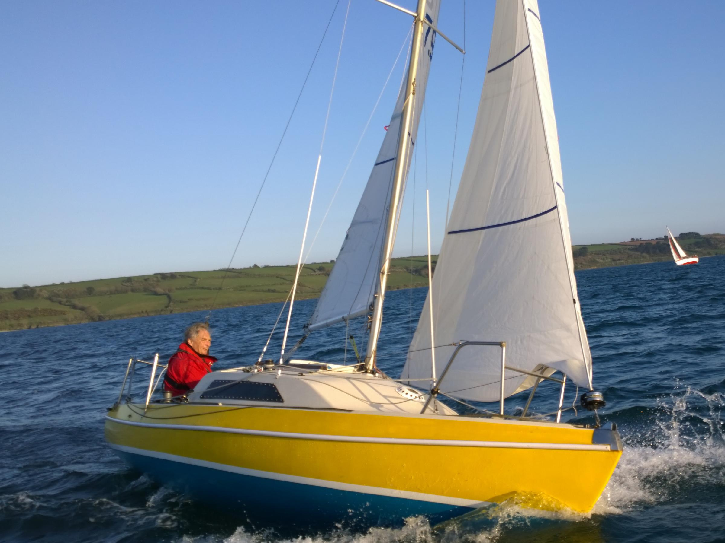 Rococo (above), manned by Clive Hoyle, which won the Q class race at Mylor Yacht Club at the weekend