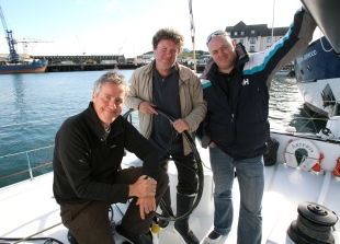 Picture BBC: Three men and their boat