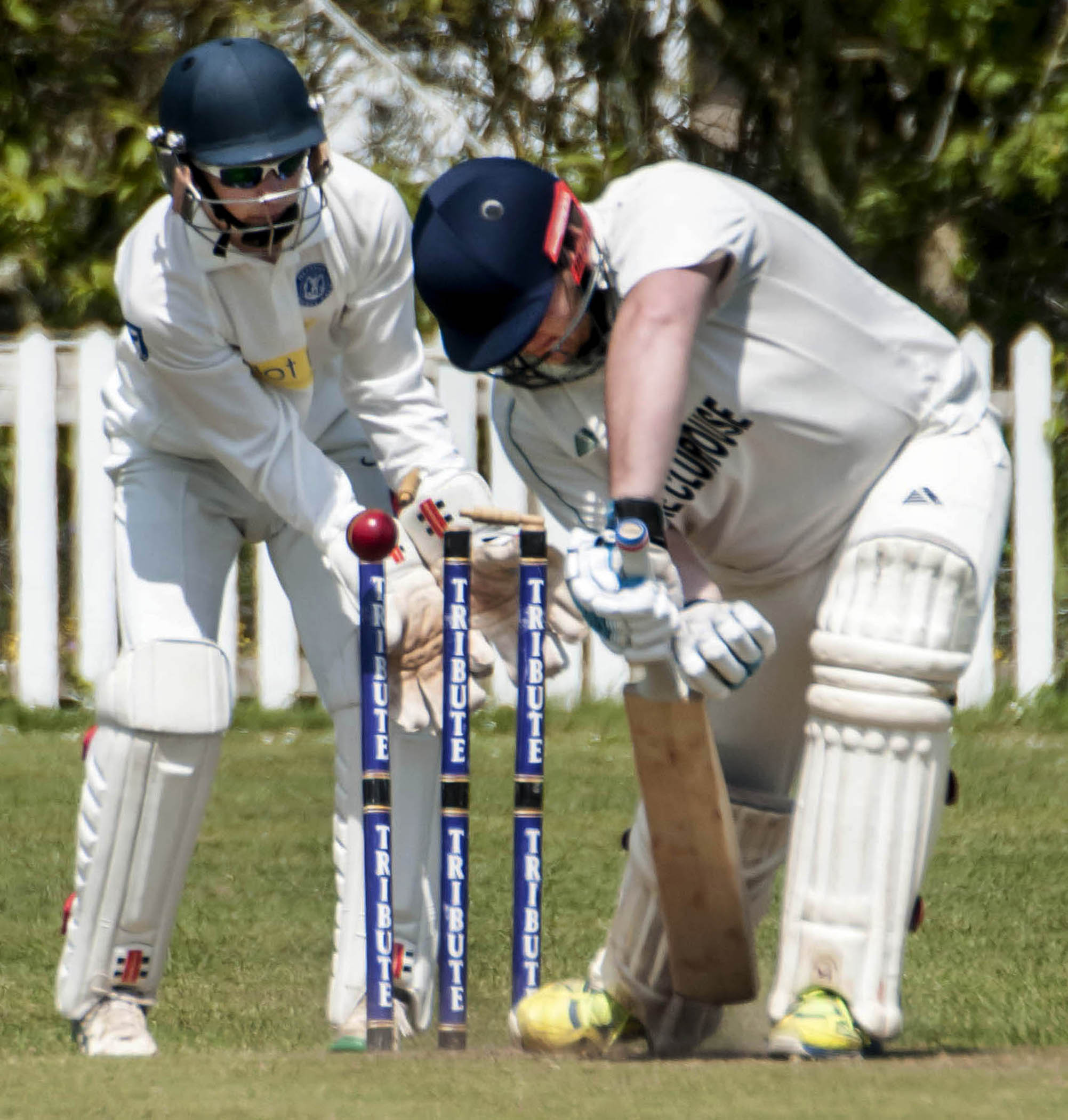 Rosudgeon batsman James Williamson is dismissed for a duck during their three-wicket defeat to Helston on Saturday