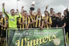 Falmouth Town beat Tavistock 4-2 after extra-time to win the Walter C Parson Cup earlier this month. Picture by Colin Higgs
