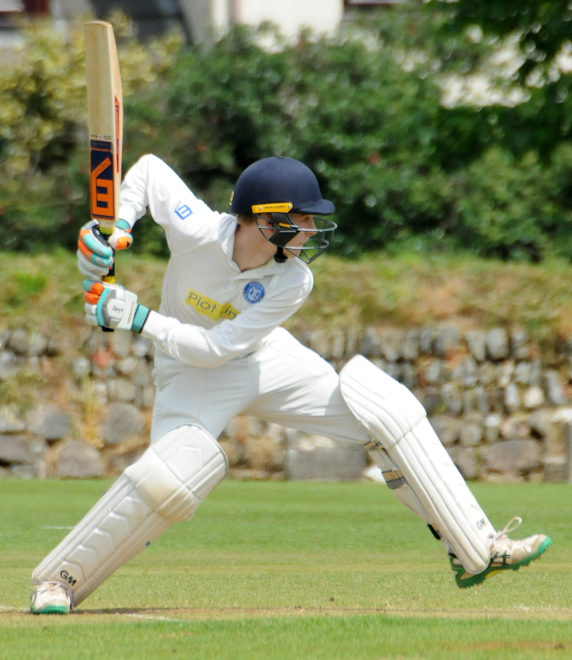 Helston batsman Ross Leathley (above) scored 63 not out in his side's 148-run win at home to Redruth 2 on Saturday. Picture by Colin Higgs